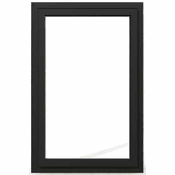 Fixe PVC gris exterieur 95x60