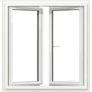 OF2 PVC blanc exterieur 125x120