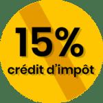 15% crédit d'impots
