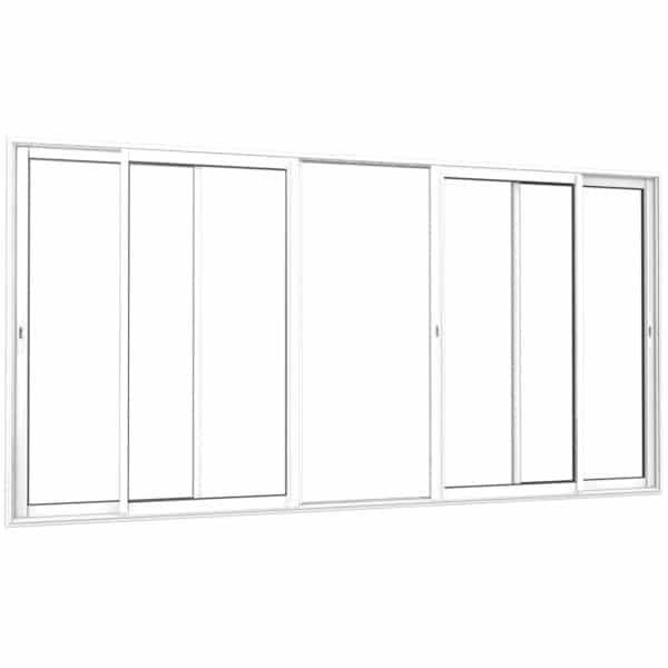 Coulissant alu 2 rails 4 vantaux blanc interieur