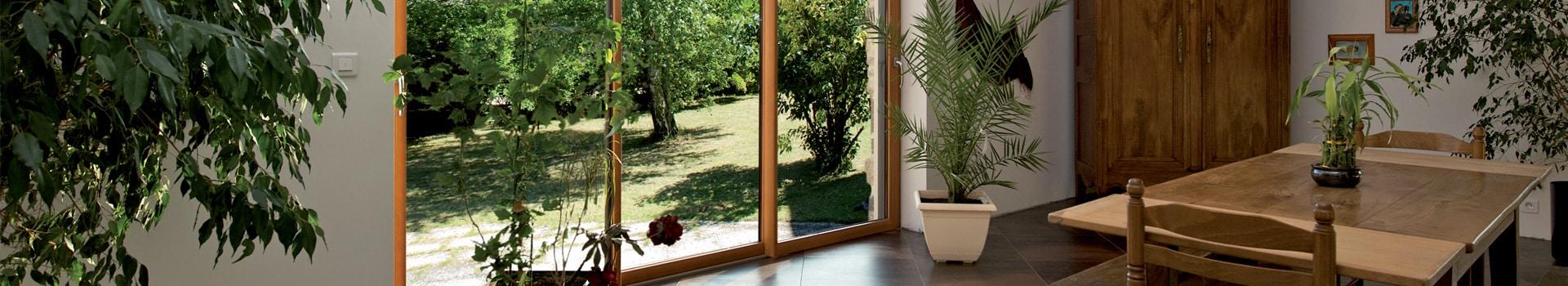 Fenêtre mixte aluminium / bois