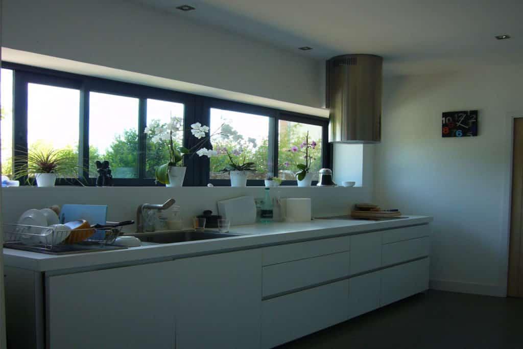 Fenêtre coulissante aluminium vue intérieure