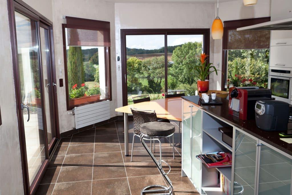 Fenêtre coulissante mixte alu / bois