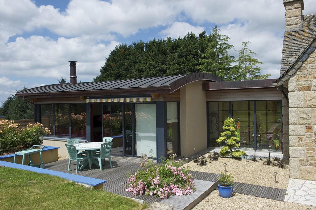Fenêtre coulissante mixte alu / bois vantaux