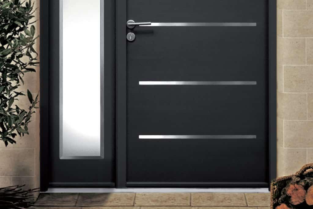 Porte d 39 entr e sur mesure en acier renov 39 art for Porte entree pvc gris anthracite
