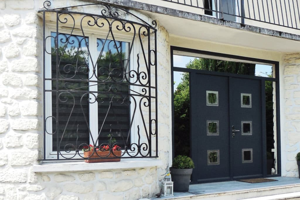 Porte d'entrée en aluminium rénovation