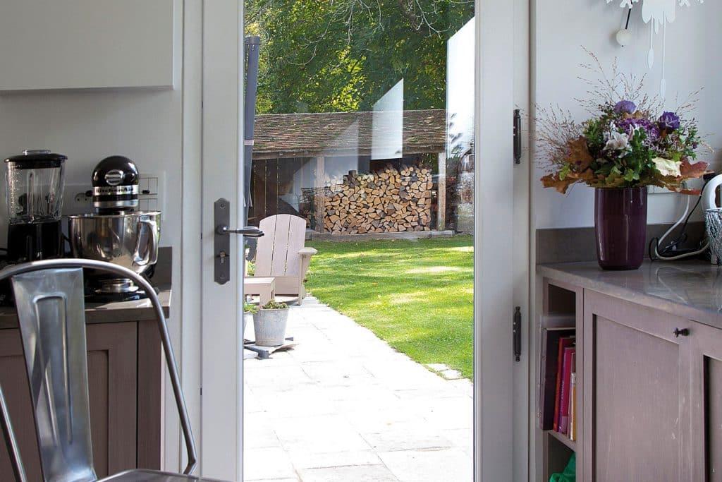 Porte fenêtre bois vantaux