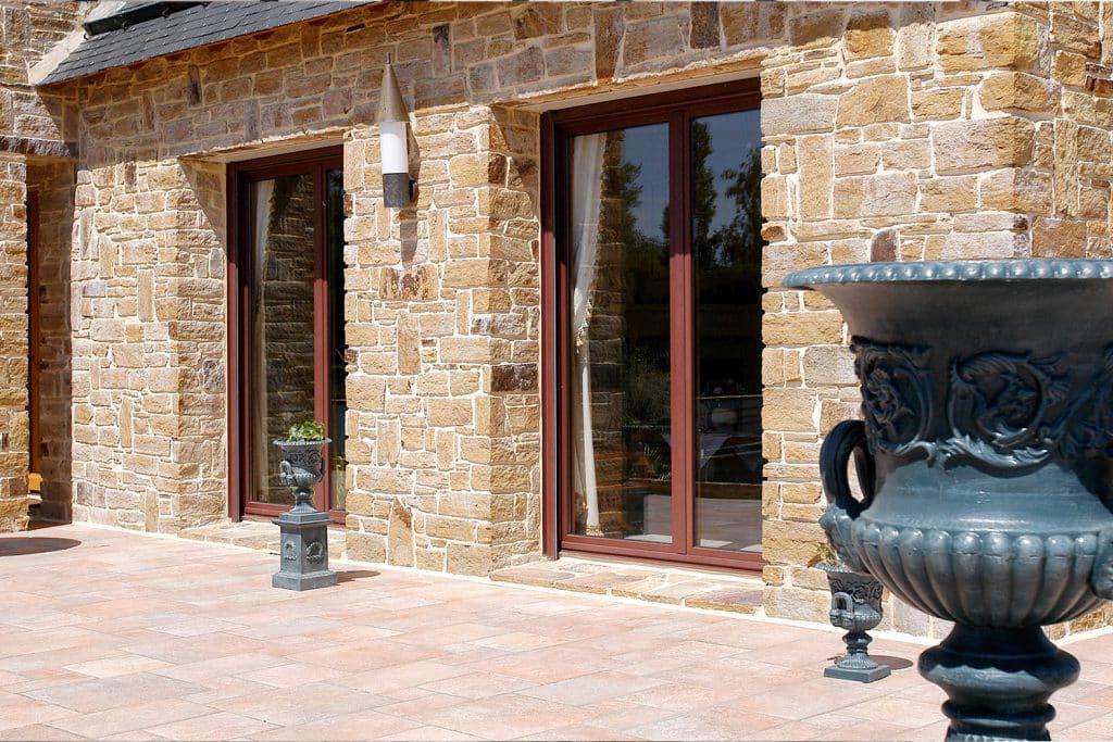 Porte fenêtre mixte alu / bois